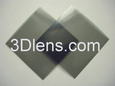 Linear Polarizer Film 100x100mm with Adhesive